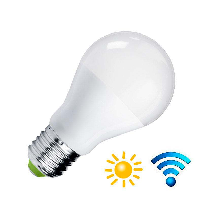 Bombilla LED E27, 9W, Sensor movimiento y luminosidad, Blanco neutro